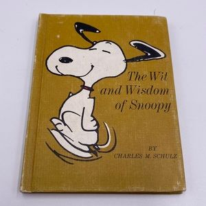 1967 snoopy vintage book the witt and wisdom